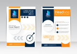 Fototapety Abstract design vector template for brochure flyer in A4 size