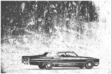 Cadillac car on grunge background