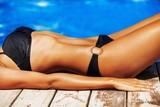 Bikini, Sunbathing, Women.