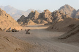 Fototapeta Desert in Africa. ATV safaris. Excursions in Egypt