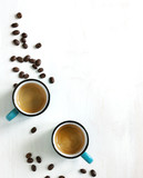 Fototapety Cups of coffee. Top view