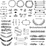Set of doodle design elements