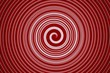 abstract spiral bright red