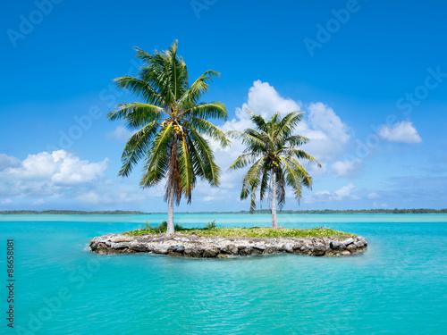 Poster Urlaubsinsel im Pazifik