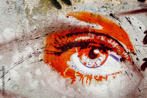Graffiti oeil - 86663095