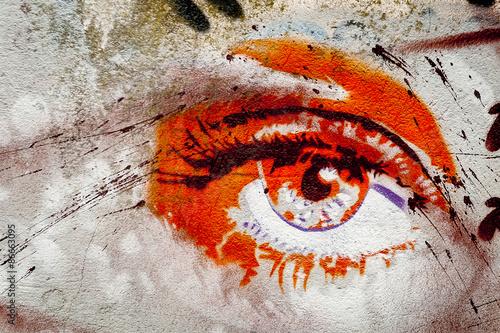 Graffiti oeil