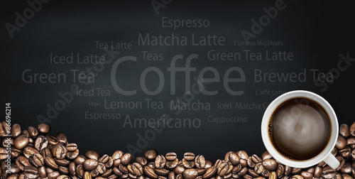 beverage coffee and tea background