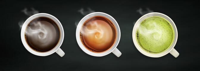 coffee and tea close-up image © Tabthipwatthana