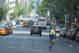 NEW YORK CITY - JUNE 14 2015: town congested street and avenue poster