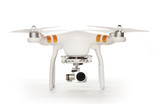 Fototapety Drone quadrocopter with high resolution digital camera. New tool for aerial photo and video.