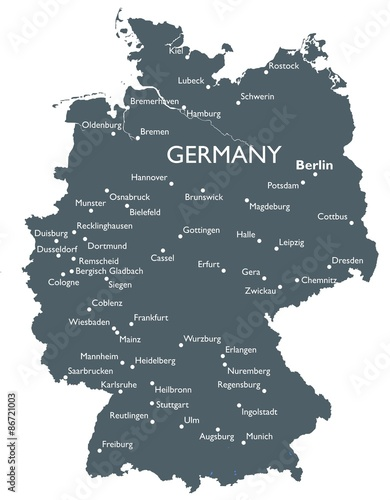 Poster Germany map