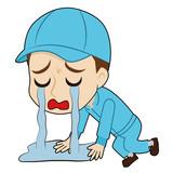 涙に溺れる帽子の作業者