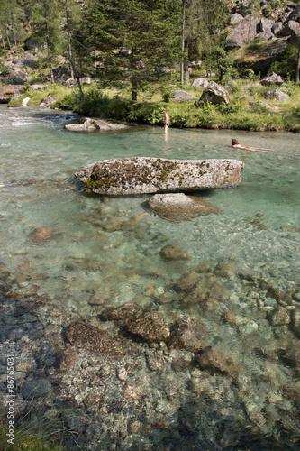 Poster fiume in val di Mello
