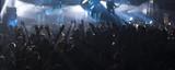 Fototapety Light striking a rock concert