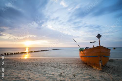 sunset over the sea beach  - 86772664