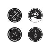 Fototapety Vector set of ecology logotypes, icon and nature symbol