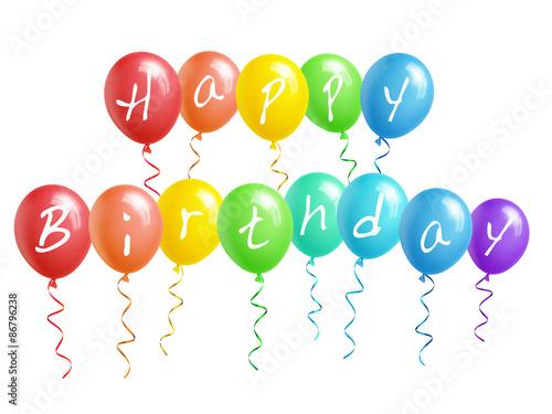 happy birthday luftballons arkivfoton och royaltyfria bilder p pic 86796238. Black Bedroom Furniture Sets. Home Design Ideas