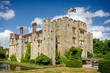 roleta: Hever Castle, United Kingdom - June 18, 2015: Panoramic view of Hever Castle and it's beautiful garden and once the childhood home of Anne Boleyn.