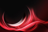 Creative Red Fractal Waves Art Abstract Background