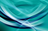 Awesome Blue Fractal Waves Art Abstract Background