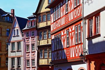 Mainz, zabytkowe domy szachulcowe domy przy ulicy Augustin (czerwca 2015)