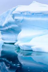 Formacje lodu na Antarktydzie