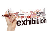 Exhibition word cloud concept