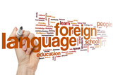 Fototapety Foreign language word cloud