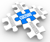 Cuture Puzzle PIeces Beliefs Language Social Values Priorities