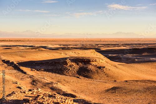 Staande foto Marokko Beautiful landscape Atacama desert on the sunset, Chile