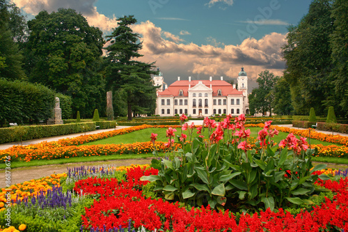Fototapety, obrazy : Garden in the French Baroque style. Kozlowka, Poland.