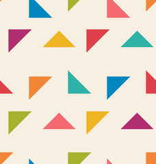 Seamless Pattern with Colorful Triangle