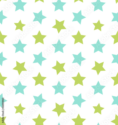 obraz lub plakat Seamless Texture with Colorful Stars, Elegance Kid Pattern