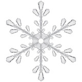 Fototapety Transparent snowflake. Translucent in vector file