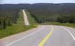 Alaskan Highway in British Columbia, Canada
