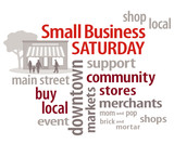 Small Business Saturday, shop local community stores, buy neighborhood businesses and markets