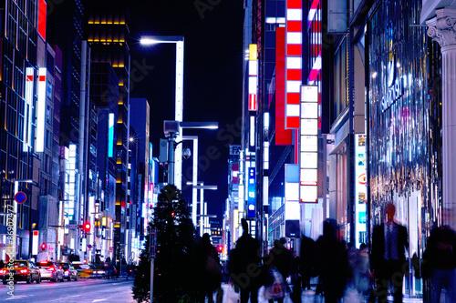 Poster 東京銀座の風景