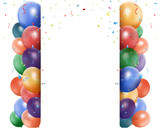 Fototapety Colorful birthday balloon