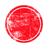 red circle grunge stamp with blank isolated on white background. - 86915090