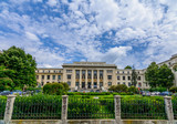 Fototapeta BUCHAREST, ROMANIA - JUNE 28: The Law School University on June 28, 2015 in Bucharest, Romania. The Law School was established on 17th October 1850 and the actual building was built in 1936