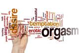 Orgasm word cloud poster