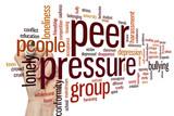 Peer pressure word cloud