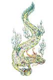 Tattoo, dragon retaining the pearl - 86931803