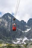 Gondola to Lomnicky stit in High Tatras, Slovakia