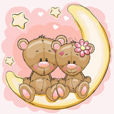 Fototapety Two Bears on the moon