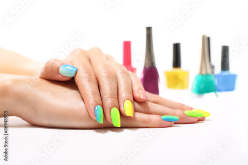 Foto op Canvas Manicure Ombre na paznokciach