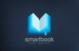 Open Book Logo design vector template abstract...Digital Library - 86950056