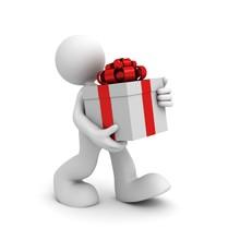 dając prezent