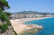 Obrazy na płótnie, fototapety, zdjęcia, fotoobrazy drukowane : der Strand im beliebten Badeort Lloret de Mar an der Costa Brava in Spanien