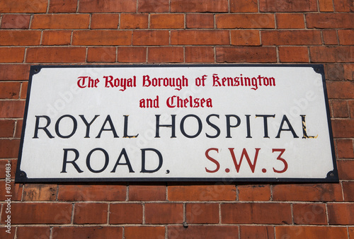 Poster Royal Hospital Road in Chelsea